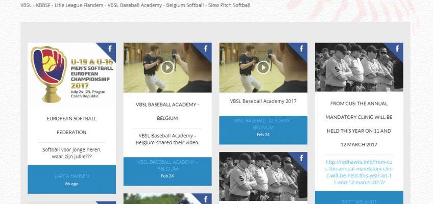 Nieuw op website VBSL: Social Wall – België