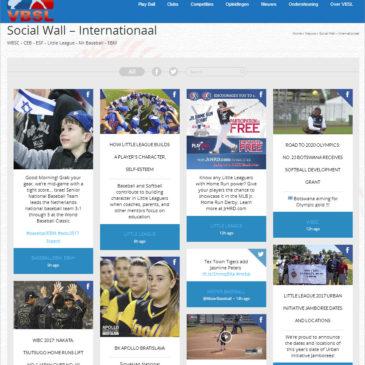 New at VBSL website – Social Wall Internationaal