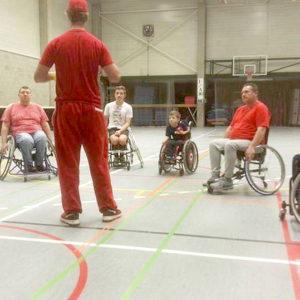 Eerste Training Rolstoel Softball Team smaakt naar meer