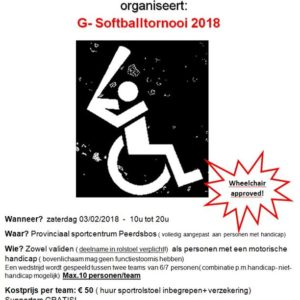 2de editie G-Softballtornooi 2018