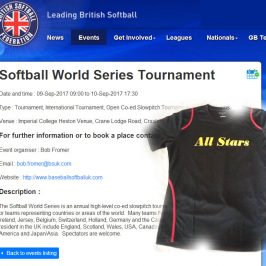 Belgium All Stars strijden mee in de World Series Slowpitch in Londen