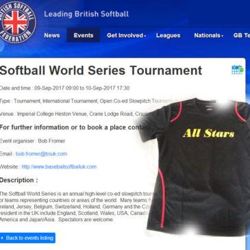Belgium All Stars strijden mee in de World Series Slowpitch in Londen
