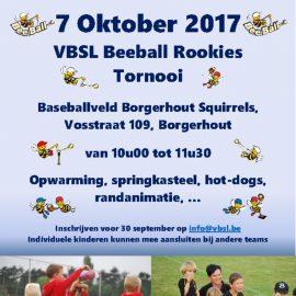 VBSL Beeball Rookies Tornooi – 7 oktober