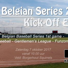 Zaterdag 7 oktober starten de Belgian Series BB met een groot kick-off Event in Borgerhout