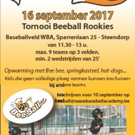 Beeball Rookie Tornooi WBA 16 september