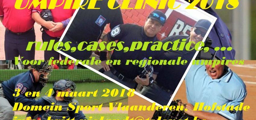 Umpire clinic 2018