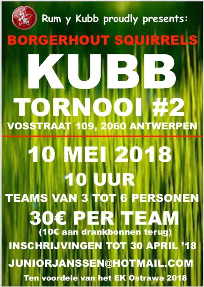 Borgerhout Squirrels Kubb Tornooi – 10 mei 2018