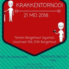 Borgerhout Squirrels – Krakkentornooi 21 mei 2018